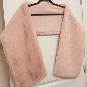 Blush Pink Faux Fur Wrap